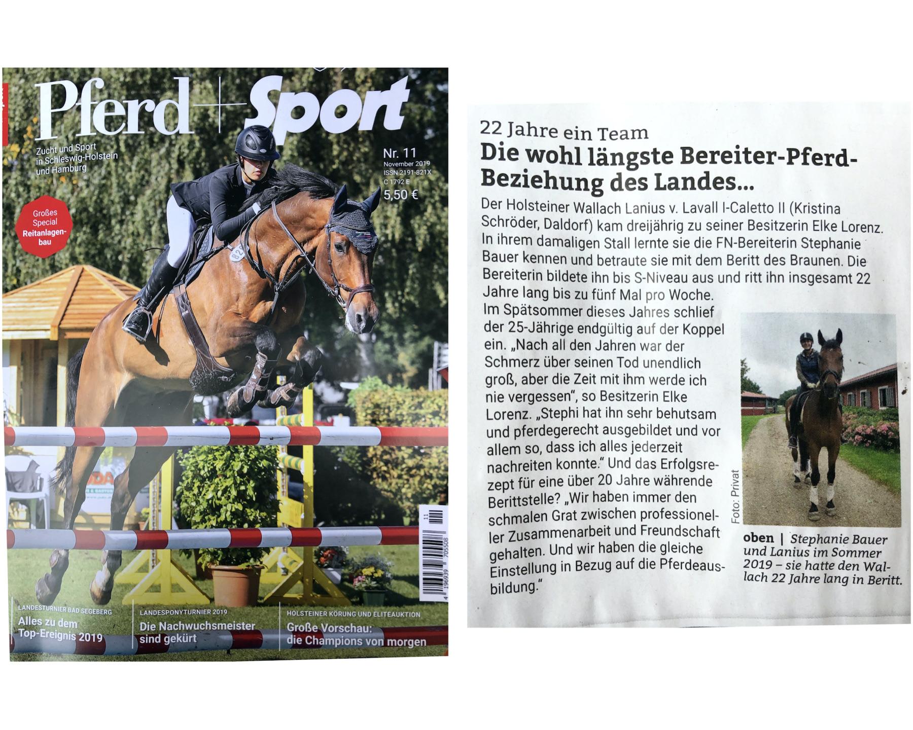 PferdeStephie und Lanius in Pferd+Sport